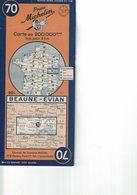 Beaume-Evian. Cartes Michelin. 1948. - Cartes Routières