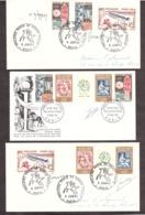 3 Enveloppes Philatec Paris 1964 - Signatures Decaris, Durrens - France