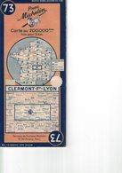 Clermont-Ferrand -Lyon. Cartes Michelin. 1946. - Cartes Routières
