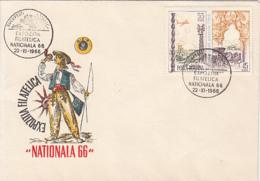 76237- NATIONAL PHILATELIC EXHIBITION, SPECIAL COVER, 1966, ROMANIA - 1948-.... Républiques