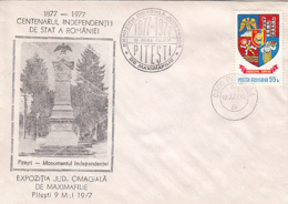 76239- ROMANIAN STATE INDEPENDENCE CENTENARY, INDEPENDENCE WAR, SPECIAL COVER, 1977, ROMANIA - 1948-.... Républiques