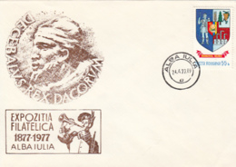 76240- ROMANIAN STATE INDEPENDENCE CENTENARY, INDEPENDENCE WAR, SPECIAL COVER, 1977, ROMANIA - 1948-.... Républiques