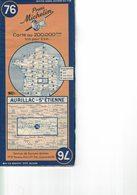 Aurillac-St Etienne. Cartes Michelin. 1949. - Strassenkarten