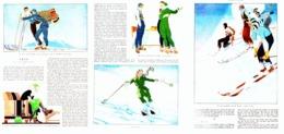 """"""" LE SKI  """" TEXTE  Et ILLUSTRATION Par  René VINCENT   1931  ( 1 ) - Sports D'hiver"""