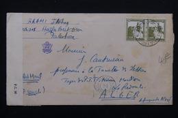 PALESTINE - Enveloppe De Haifa Pour Alger Avec Contrôle Postal - L 23373 - Palestine