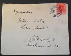 Kingdom Of Yugoslavia Old Letter Pismo Sa Sadrzajem, Stamp Zeljeznicki Zig  VINKOVCI - LJUBLJANA 1931 - 1931-1941 Royaume De Yougoslavie