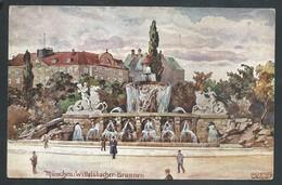 +++ CPA - Allemagne - MUNCHEN - MUENCHEN - Wittelsbacher - Brunnen - Illustrateur - Aquarell Serie N° 41  // - Muenchen