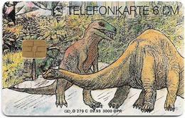 Germany - Hermann E. Sieger GmbH - Dinosaurs 3 - O 0279C - 09.93, 6DM, 3.000ex, Used - Germany
