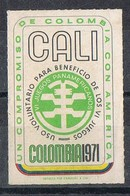 Sello Viñeta CALI (Colombia) 1971. Juegos Panamericanos. Label, Cinderella * - Colombia