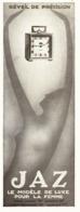 """PUB REVEIL De PRECISION Pour FEMME  """" JAZ """"   1930 - Jewels & Clocks"""