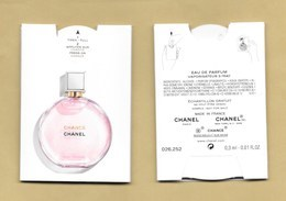 PUFFER *** CHANCE * CHANEL * R/V - Perfume Cards