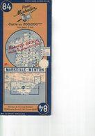 Marseille-Menton. Cartes Michelin. 1947. - Cartes Routières
