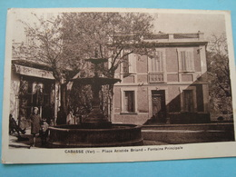 83 - Cabasse - Place Aristide Briand - Fontaine Principale - 1937 - France