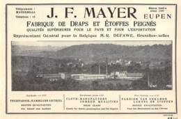 1928 - Eupen - Fabrique De Draps - J.F. Mayer - Dim. 1/2 A4 - Advertising