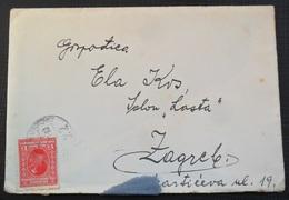 Kingdom Of Yugoslavia Old Letter Pismo Sa Sadrzajem, Stamp  Zeljeznicki Zig ZAGREB OSIJEK VINKOVCI 1931 - 1931-1941 Royaume De Yougoslavie