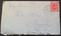 Kingdom Of Yugoslavia Old Letter Pismo Sa Sadrzajem, Stamp  Zeljeznicki Zig SUSAK - ZAGREB 1930 - 1931-1941 Royaume De Yougoslavie