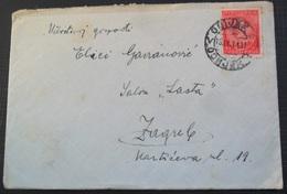 Kingdom Of Yugoslavia Old Letter Pismo Sa Sadrzajem, Stamp  OSIJEK 1931 - 1931-1941 Royaume De Yougoslavie