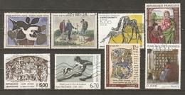 France - Série Artistique - Petit Lot De 8° - Braque - Courbet - Giacometti - Prud'hon - Henner - Maître De Moulins - Stamps