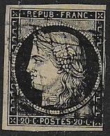 Cérès N° 3 Oblitéré - Cote : 65 € - 1849-1850 Cérès