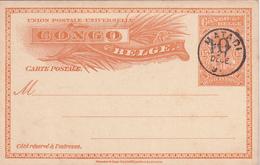 Entier Postal Stationery Congo-Belge - Oblitéré Matadi - 191? - Surchargé - Entiers Postaux