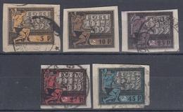 REPUBLICA SOVIETICA 1922 Nº 170/174 USADO - 1917-1923 Republic & Soviet Republic