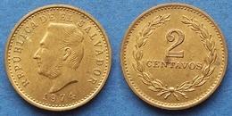 EL SALVADOR - 2 Centavos 1974 KM# 147 Reform Coinage - Edelweiss Coins - El Salvador