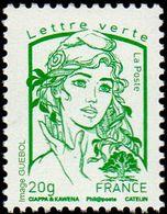 France Marianne De La Jeunesse Par Ciappa Et Kawena N° 4774_d ** TVP Vert 20g. Offset Sans Phosphore - 2013-... Marianne De Ciappa-Kawena