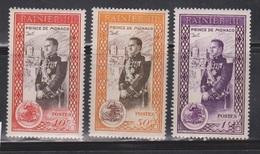 MONACO Scott # 247-9 MH - Prince Rainier - Unused Stamps