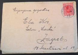 Kingdom Of Yugoslavia Old Letter Pismo Sa Sadrzajem, Stamp Zeljeznicki Zig VINKOVCI - OSIJEK - ZAGREB 1931 - 1931-1941 Royaume De Yougoslavie