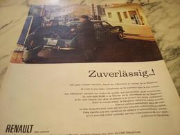 ANCIENNE AFFICHE  PUBLICITE VOITURE DAUPHINE RENAULT 1960 - Advertising