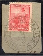 ARGENTINA, 1899 / 1908 Issue, PARANA A URUGUAY ESTAFETA AMBULANTE # 1, Entre Rios, Cancel On Piece - Oblitérés