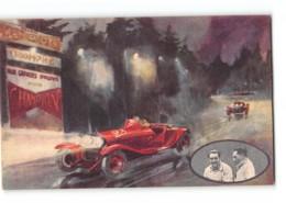 CPA Pub Bougie Champion Robert Benoist Marinoni Sur Alfa Romeo à Spa - Cartes Postales