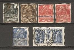 France 1931 - Exposition Coloniale - Série Complète°  YT 270/74 -  272 - 50 C - Type I Et II - Gebraucht