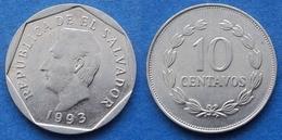 EL SALVADOR - 10 Centavos 1993 KM# 155a Reform Coinage - Edelweiss Coins - Salvador