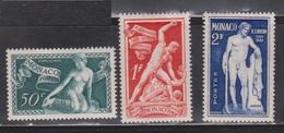 MONACO Scott # 209-11 MH - Unused Stamps