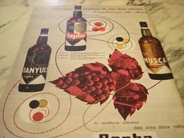 ANCIENNE PUBLICITE VIN DOUX UNE MARQUE RAPHA 1960 - Alcools