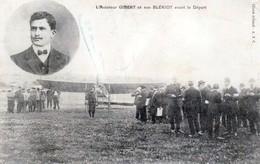 L'Aviateur GIBERT Et Son Blériot Avant Le Départ Des Charentes - Très Beau Plan Animé - Aviateurs