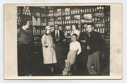 Carte Photo épicerie Animée étalage écrit 9 Mai 1937 - Cartes Postales