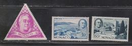 MONACO Scott # 198-200 MH - Franklin D Roosevelt - Monaco