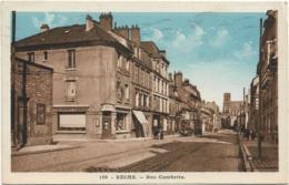 D51 - REIMS - RUE GAMBETTA - Etablissements Economiques Mauroy - Carte Colorisée - Reims