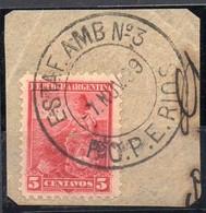 ARGENTINA, 1899 / 1908 Issue,  ESTAFETA AMBULANTE # 3, Entre Rios, Cancel On Piece - Oblitérés