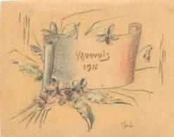 PAPIER COLORIE - VAUQUOIS 1916 - 1914-18