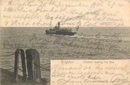 ROYAUME UNI - BRIGHTON - Steamer Leaving The Pier - Verenigd-Koninkrijk