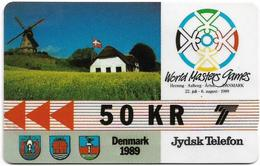 Denmark - Jydsk - World Masters Games - GPT - 50Kr - 2JYDB - 1989, 3.000ex, Used - Denmark