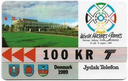 Denmark - Jydsk - World Masters Games - GPT - 100Kr - 2JYDC - 1989, 3.000ex, Used - Denmark