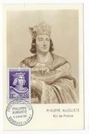 """Carte Maximun """"Philippe Auguste"""" 1955 - Maximum Cards"""