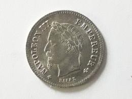 20 Centimes Napoléon III Empereur 1867 BB - France