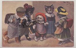 Arthur Thiele - Katten Naar De School Serie 962 - Thiele, Arthur