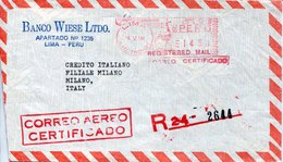 42885 Peru, Red Meter Freistempel Ema.  Lima 1984 - Pérou