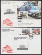 2005-FDC-65 CUBA FDC 2005. REGISTERED COVER TO SPAIN. LOCOMOTORAS, RAILROAD, RAILWAYS, LOCOMOTIVE. - FDC